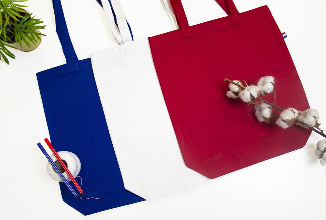 Sacs fabriqués en France bleu blanc rouge