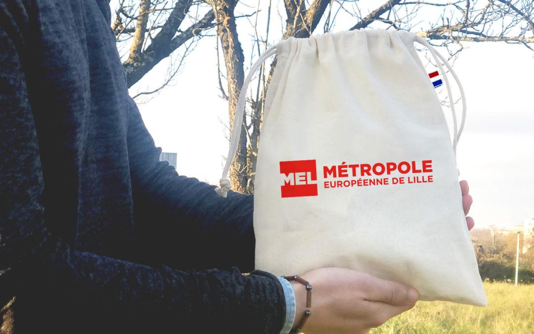 pochon personnalisé Métropole de Lille