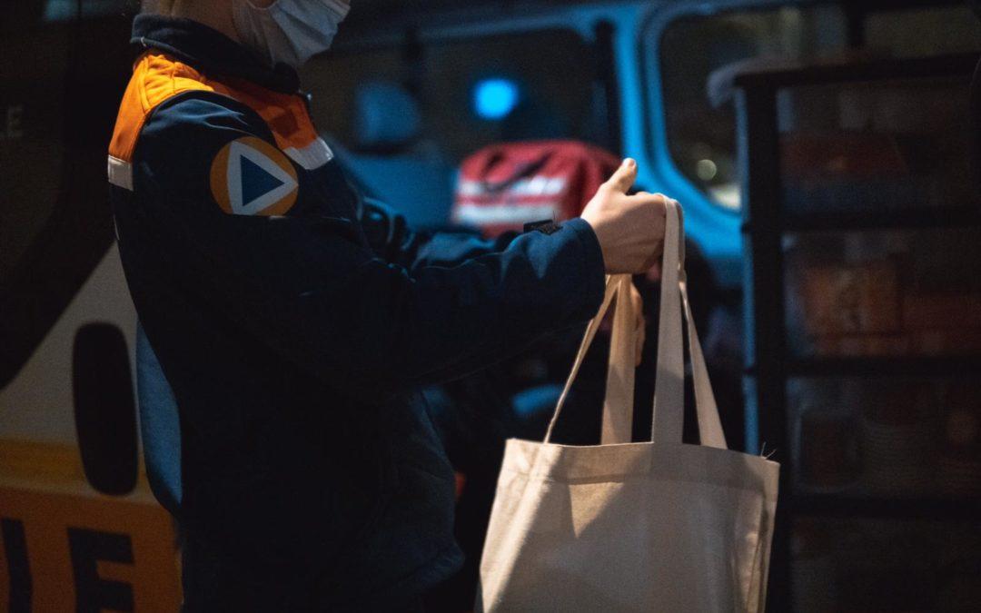 don de sacs pour les maraudes